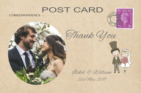 006 Cute Couple Photo Thank You Cards