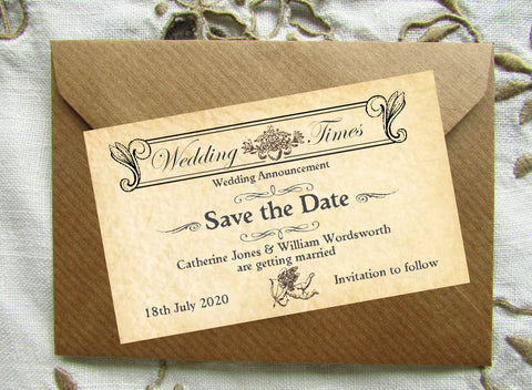 089 Wedding News Save the Date Magnet