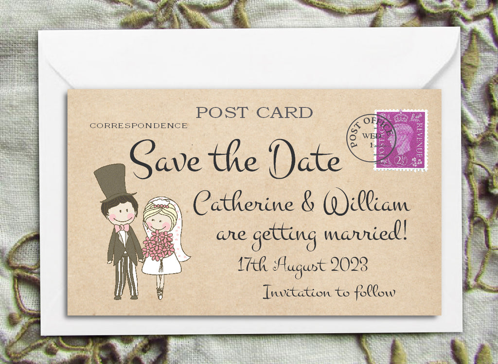 006 Cute Couple Save the Date Magnet