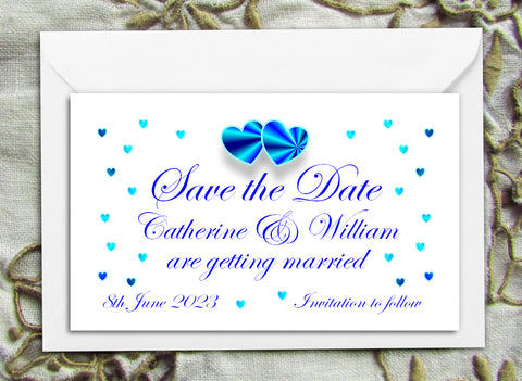 008 Blue Hearts Save the Date Magnet