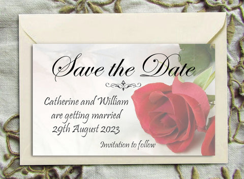 065 Red Rose Save the Date Magnet