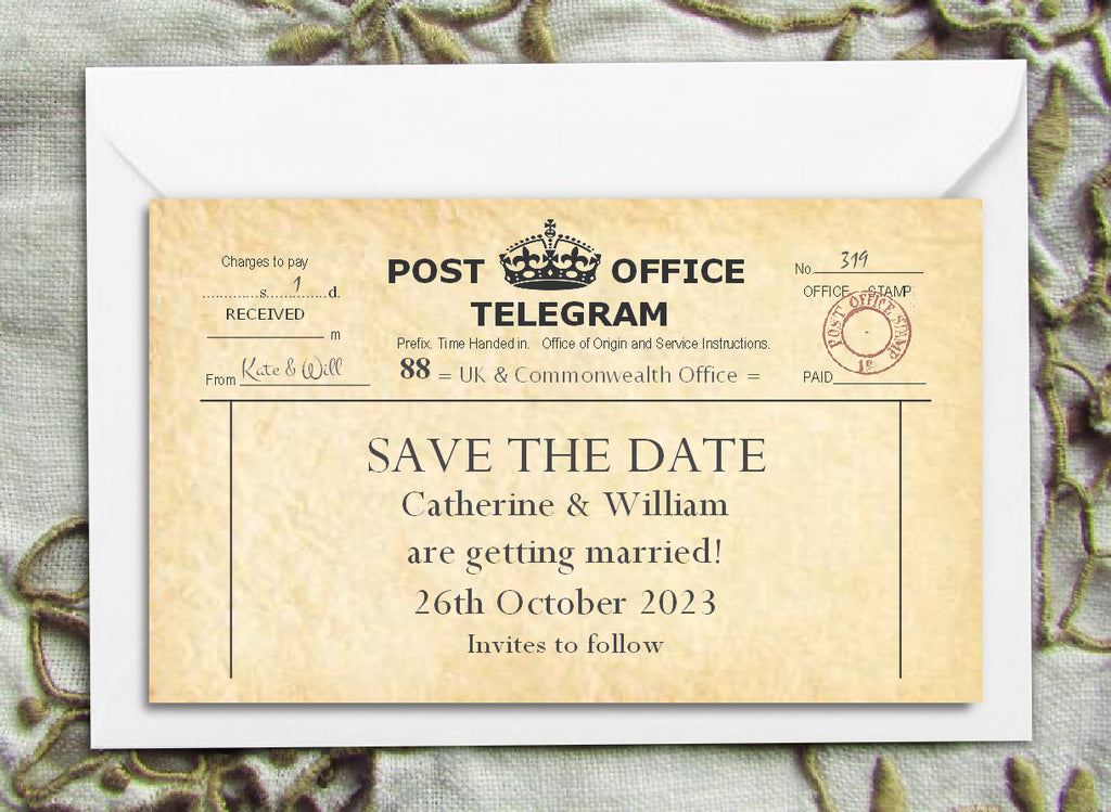 003 PO Telegram Save the Date Magnet