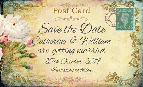 029 Cottage Garden Save the Date Card