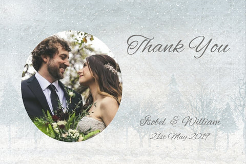 022 Frosty Wonderland Photo Thank You Cards