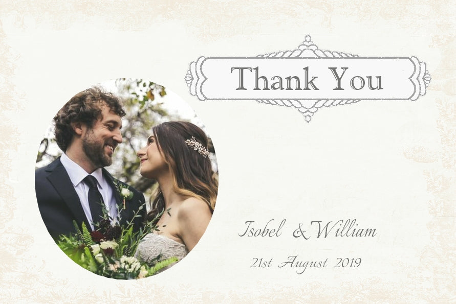 028 Classic Photo Thank You Cards