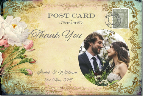 029 Cottage Garden Photo Thank You Cards