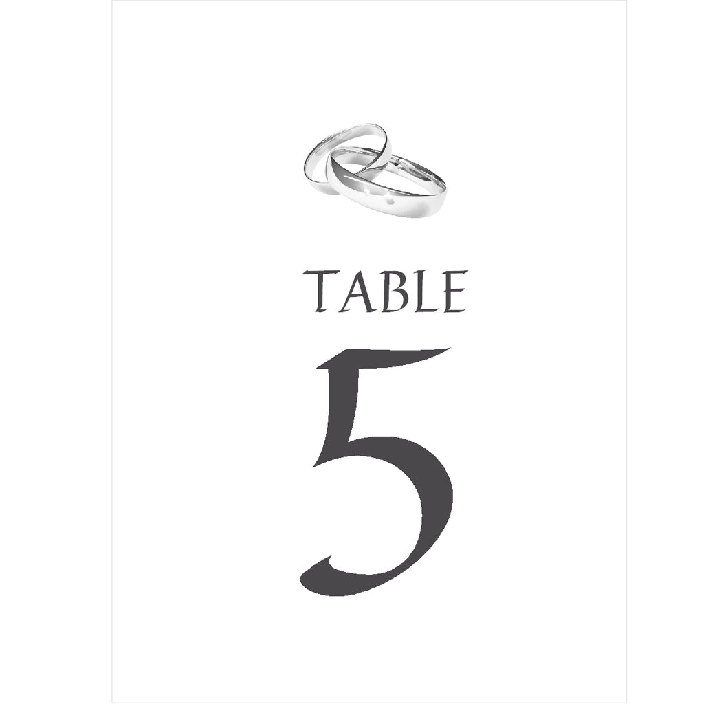 005 Two Rings Portrait Table Number Cards