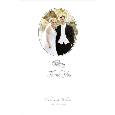 005 Two Rings Portrait Photo Thank You Cards