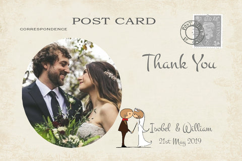 034 Couple Kissing Photo Thank You Cards