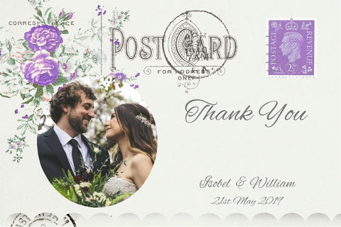 043 Lavender Postcard Photo Thank You Cards