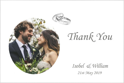 048 Linked Rings Photo Thank You Cards