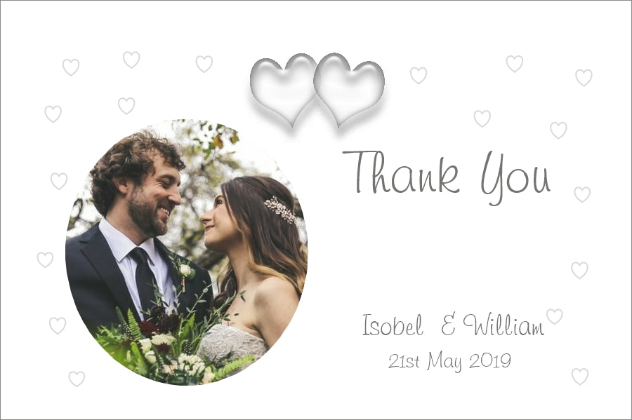 050 Love Hearts Photo Thank You Cards