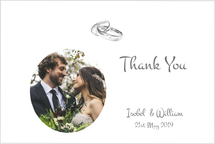 059 Wedding Rings Photo Thank You Cards
