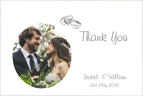 066 Rings Modern Photo Thank You Cards