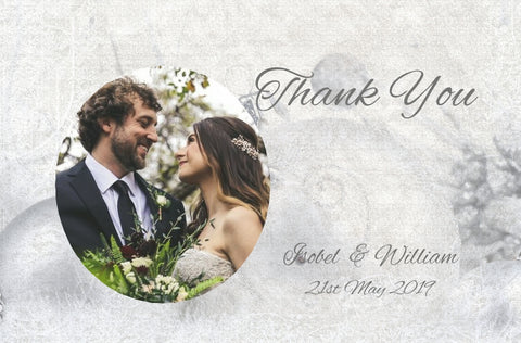 072 Silver Baubles Photo Thank You Cards