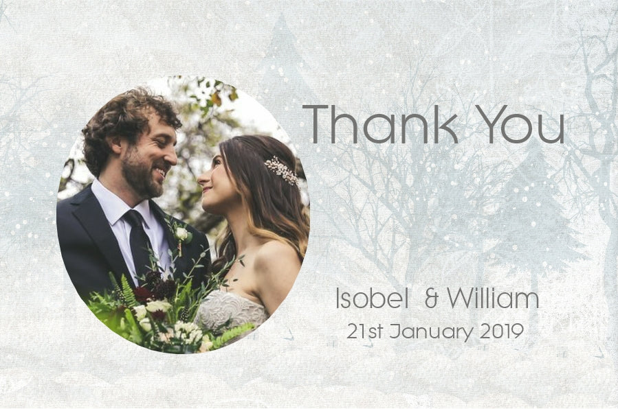078 Snow Scene Photo Thank You Cards