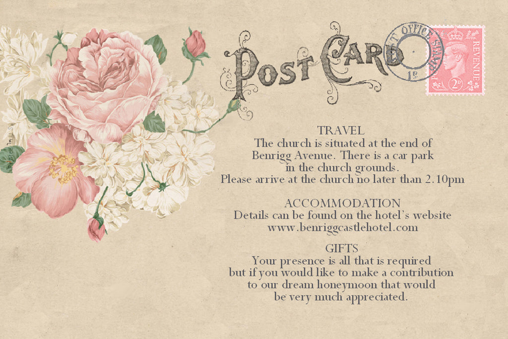 014 Vintage Postcard Information Cards