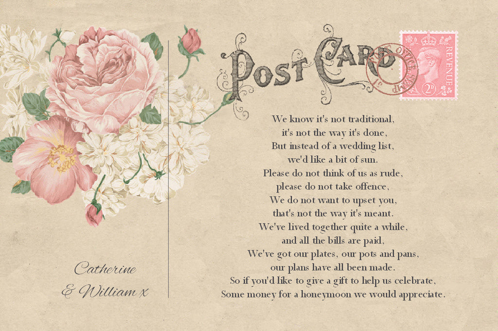 014 Vintage Postcard Poem Cards
