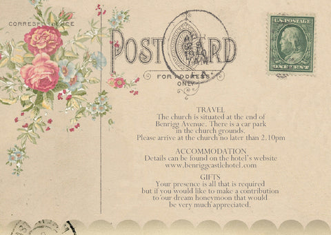 010 Flower Postcard Information Cards