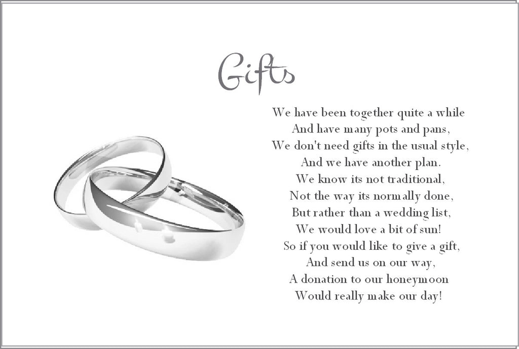 059 Wedding Rings Poem Cards