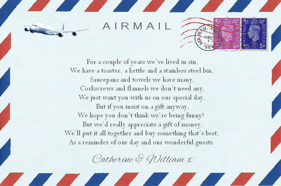 033 Airmail Poem Cards