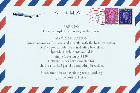 033 Airmail Information Cards
