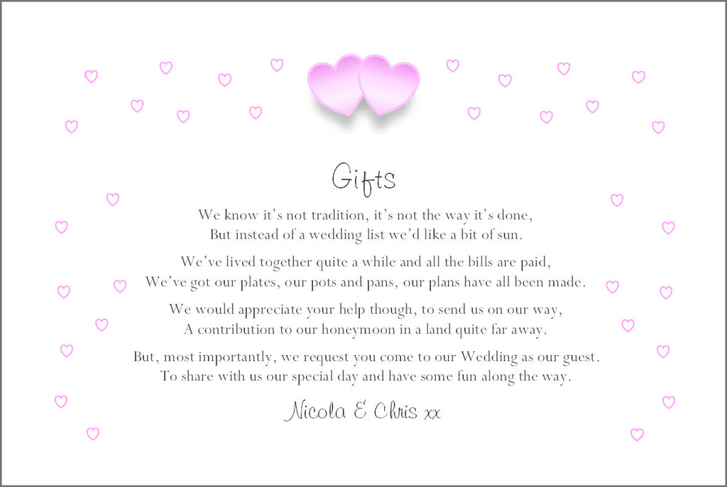 055 Pink Hearts Poem Cards