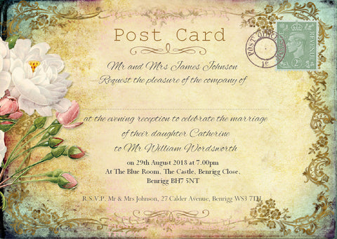 029 Cottage Garden Wedding Invitations