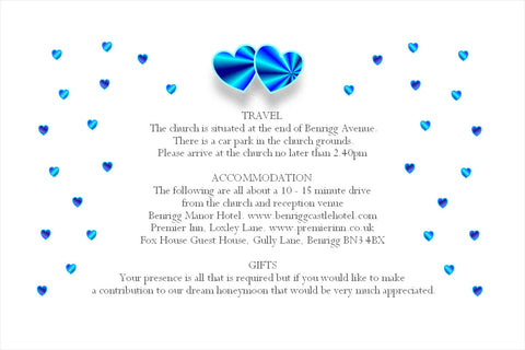 008 Blue Hearts Information Cards