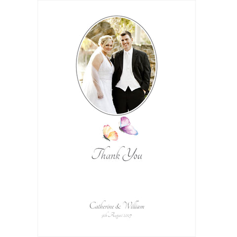 010 Butterfly Wedding Photo Thank You Cards