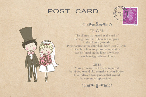 006 Cute Couple Information Cards