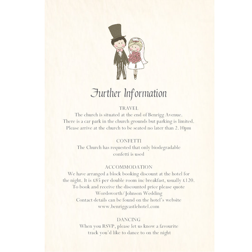 038 Cute Couple Upright Information Cards
