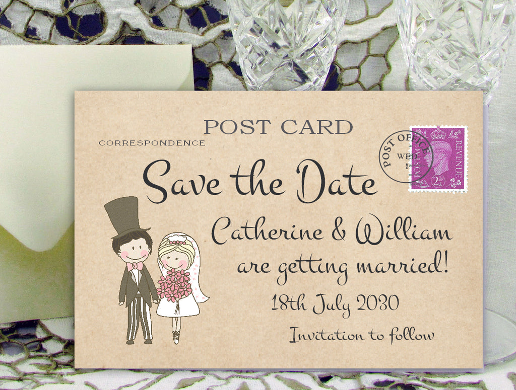 006 Cute Couple Save the Date Cards
