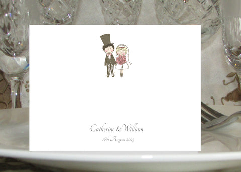 097 Wedding Couple Place Cards