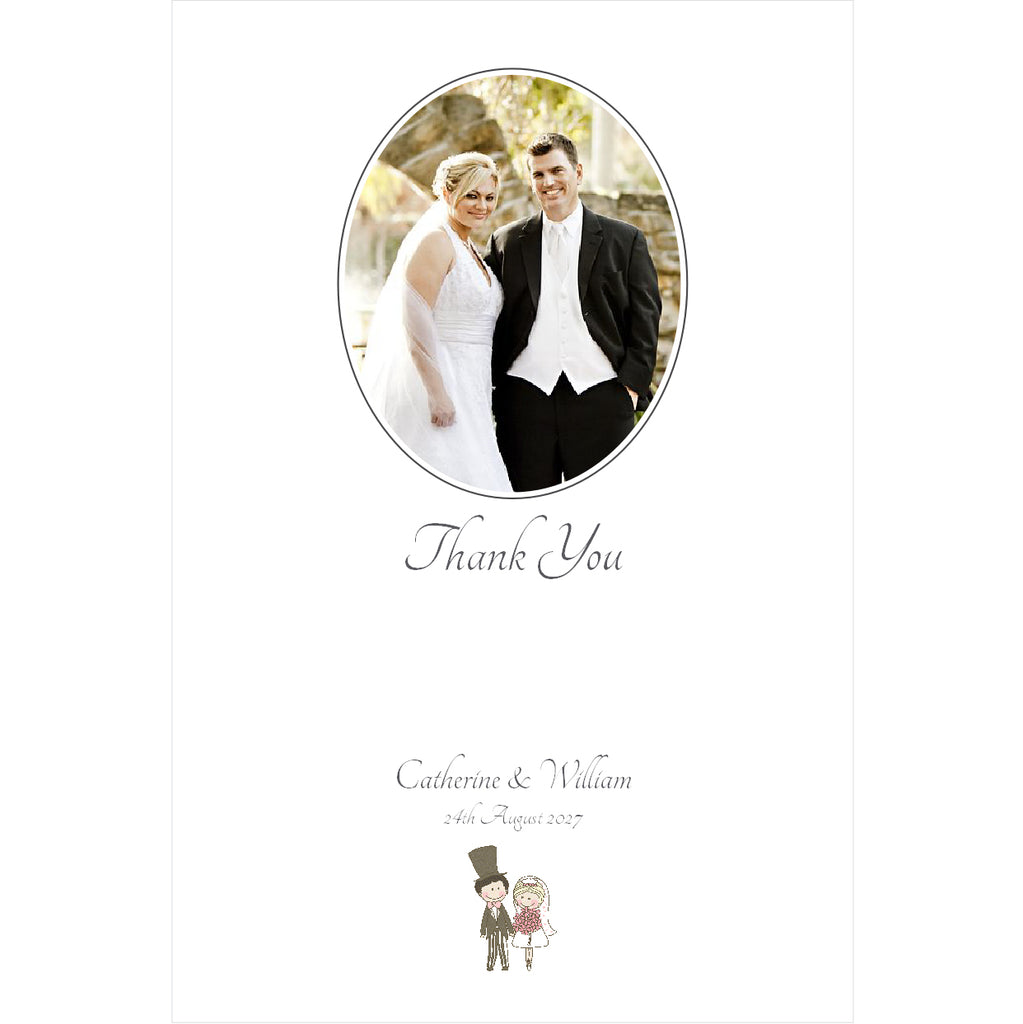 097 Wedding Couple Photo Thank You Cards
