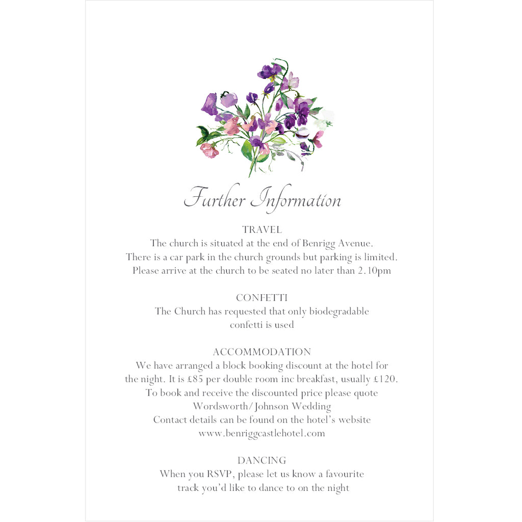 025 Forget Me Not Information Cards