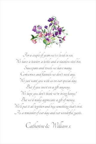 025 Forget Me Not Poem Cards