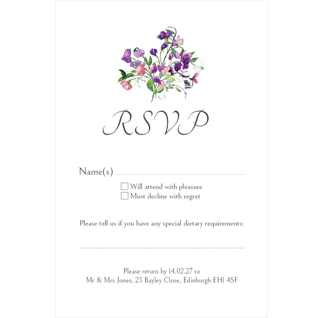 025 Forget Me Not R.S.V.P. Cards