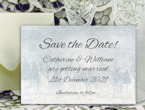 022 Frosty Wonderland Save the Date Card
