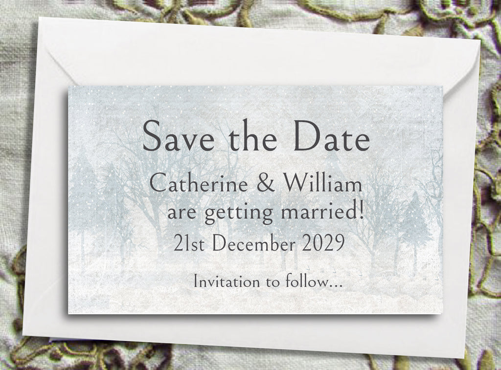 078 Snow Scene Save the Date Magnet