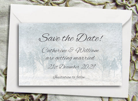 022 Frosty Wonderland Save the Date Magnet