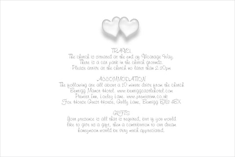 050 Love Hearts Information Cards