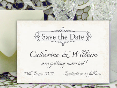 028 Classic Save the Date Card