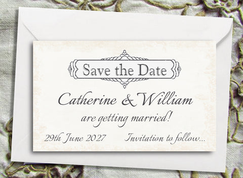 028 Classic Save the Date Magnet