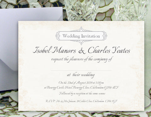 028 Classic Wedding Invitations