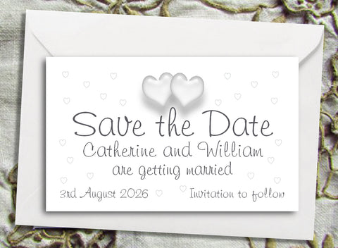 050 Love Hearts Save the Date Magnet