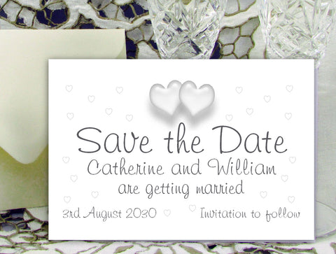 050 Love Hearts Save the Date Card