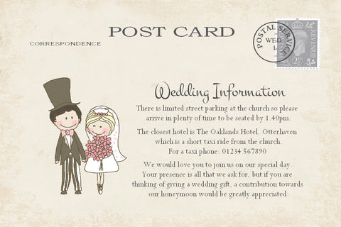 071 Shabby Couple Information Cards
