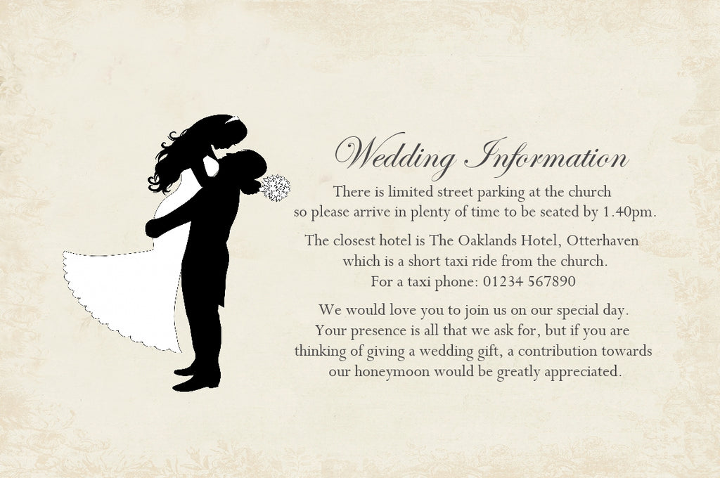 027 Silhouette Script Information Cards