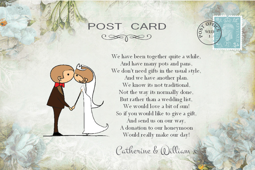 046 Kiss Couple Flowers Poem Cards